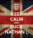 KEEP CALM AND FUCK NATHAN (; - Personalised Poster large
