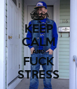 KEEP CALM AND FUCK STRESS - Personalised Poster large