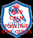 KEEP CALM AND FUCK THE OWL CUNTS - Personalised Poster large