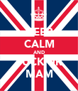 KEEP CALM AND FUCK UR MAM - Personalised Poster large