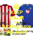KEEP CALM AND fucking hate the scum - Personalised Poster large