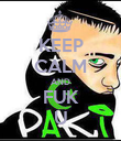 KEEP CALM AND FUK U - Personalised Poster large