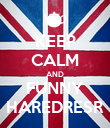KEEP CALM AND FUNNY HAREDRESR - Personalised Poster large