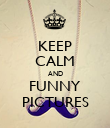KEEP CALM AND FUNNY PICTURES - Personalised Poster large