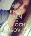 KEEP CALM AND GÅ OCH SOV - Personalised Poster large