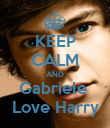 KEEP CALM AND Gabriele  Love Harry - Personalised Poster large