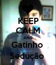KEEP CALM AND Gatinho  Sedução  - Personalised Poster large