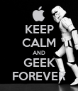 KEEP CALM AND GEEK FOREVER - Personalised Poster large