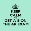 KEEP CALM AND GET A 5 ON THE AP EXAM - Personalised Poster large