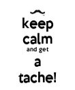 keep calm and get a tache! - Personalised Poster large