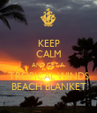KEEP CALM AND GET A  TROPICAL WINDS BEACH BLANKET - Personalised Poster large