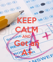 KEEP CALM AND Get an A+ - Personalised Poster large