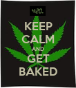 KEEP CALM AND GET BAKED - Personalised Poster large