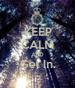 KEEP CALM AND Get In.  - Personalised Poster large