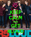 KEEP CALM AND GET #LOUD - Personalised Poster large