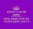 KEEP CALM AND GET MARRIED JEN AND STEVE 10TH SEPT 2011 - Personalised Poster large