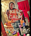 KEEP CALM AND GET MONEY !! - Personalised Poster large