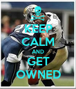 KEEP CALM AND GET OWNED - Personalised Poster large