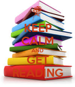 KEEP CALM AND GET READING - Personalised Poster large