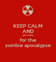 KEEP CALM AND get ready for the zombie apocalypse - Personalised Poster small