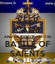 KEEP CALM AND GET REDY FOR THE BATTLE OF SAIENTS - Personalised Poster large