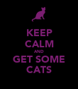 KEEP CALM AND GET SOME CATS - Personalised Poster large