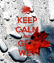 KEEP CALM AND GET  WET - Personalised Poster large