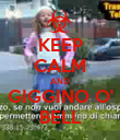 KEEP CALM AND GIGGINO O' BELL - Personalised Poster large