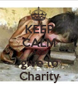 KEEP CALM AND give to Charity - Personalised Poster large