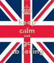 keep calm and go ab seiling - Personalised Poster large