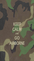 KEEP CALM AND GO AIRBORNE - Personalised Poster large