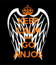 KEEP CALM AND GO ANJOS - Personalised Poster large