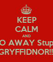 KEEP CALM AND GO AWAY Stupid GRYFFIDNOR!!! - Personalised Poster large