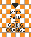 KEEP CALM AND GO BIG ORANGE - Personalised Poster large