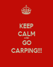 KEEP CALM AND GO CARPING!!! - Personalised Poster large