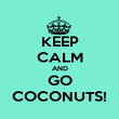 KEEP CALM AND GO COCONUTS! - Personalised Poster large