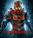 KEEP CALM AND go commando - Personalised Poster large