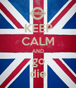 KEEP CALM AND go die - Personalised Poster large