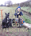 KEEP CALM AND GO FERRETING - Personalised Poster large