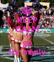 KEEP CALM AND go for manly - Personalised Poster large