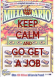 KEEP CALM AND GO GET A JOB - Personalised Poster large