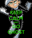 KEEP CALM AND GO GHOST - Personalised Poster large