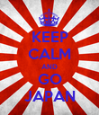 KEEP CALM AND GO JAPAN - Personalised Poster large