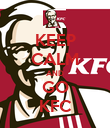 KEEP CALM AND GO KFC - Personalised Poster large