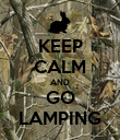KEEP CALM AND GO LAMPING - Personalised Poster large