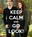 KEEP CALM AND GO LOOK! - Personalised Poster large