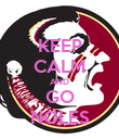 KEEP CALM AND GO NOLES - Personalised Poster small