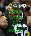 KEEP CALM AND GO PACK - Personalised Poster large