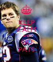 KEEP CALM AND GO PATS - Personalised Poster large