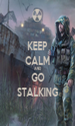 KEEP CALM AND GO STALKING - Personalised Poster large